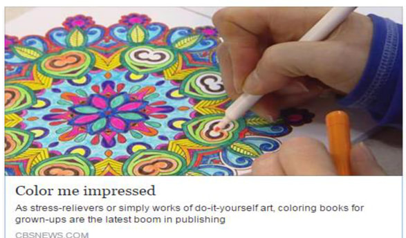 CBS News Ran A Great Feature On Adult Coloring And My Humble Book Made An Appearance Thanks Watch The Here